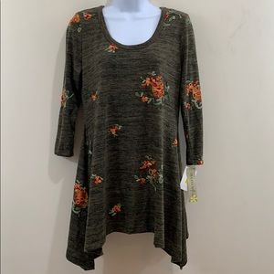 Figueroa & Flower Long Sleeve Embroidered Sweater
